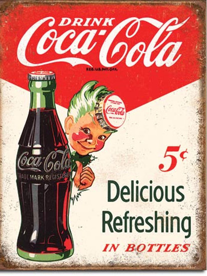 Coca Cola - Sprite Boy 5 Cents Metal Sign #2168