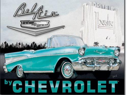 1957 Chevy Bel Air Metal Sign #1760