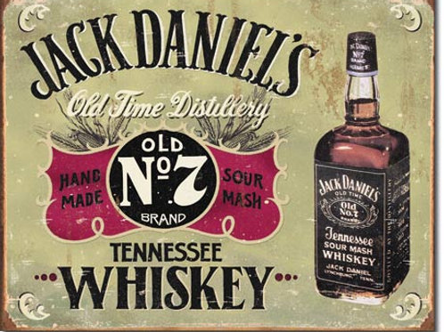 Jack Daniel's Hand Made Metal Sign #1666