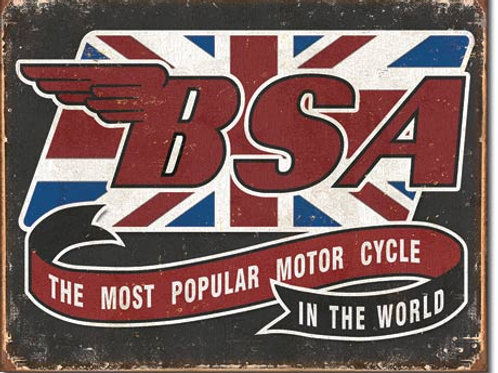 BSA Most Popular Metal Sign #2108