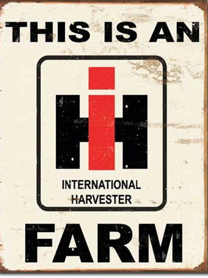 International Harvester Farm Metal Sign #1279