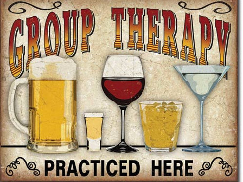Group Therapy Metal Sign #2041