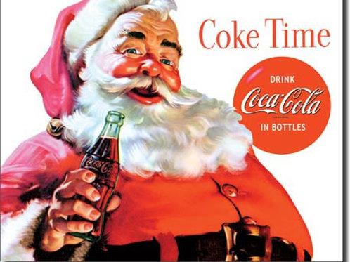 Coke - Santa - Coke Time Metal Sign #1046