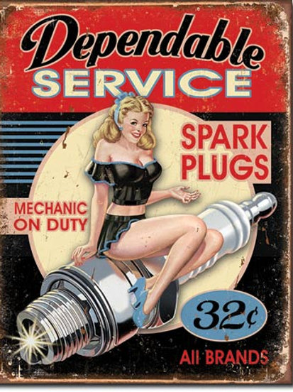 Dependable Service Metal Sign #1991