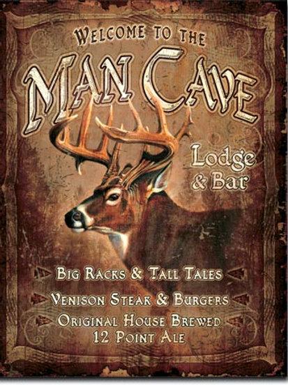 Man Cave Lodge Metal Sign #1868