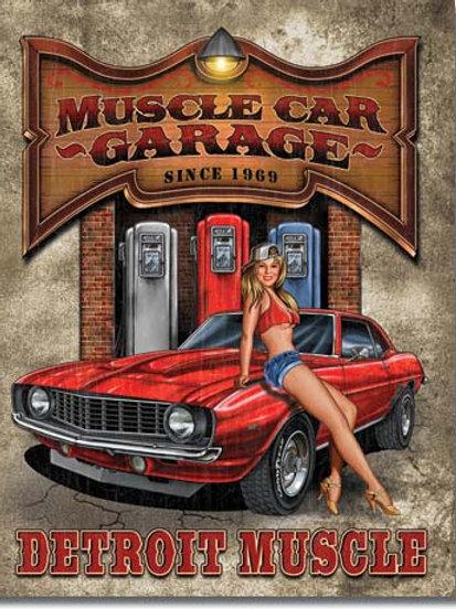 Muscle Car Garage Metal Sign #1568