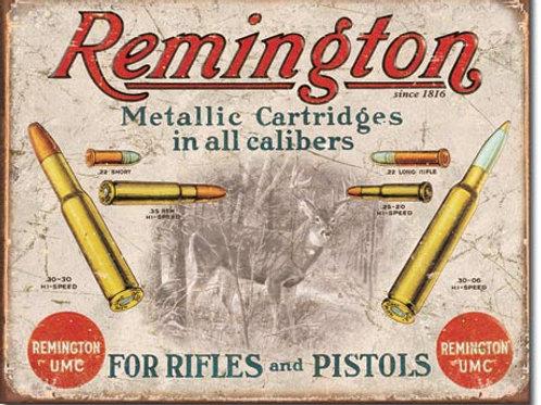 Remington For Rifles & Pistols Metal Sign #1788