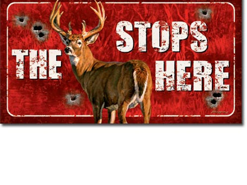 Buck Stops Here Metal Sign #1919