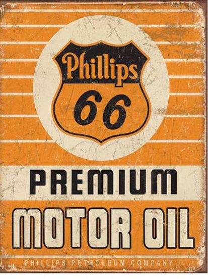 Phillips 66 Premium Oil Metal Sign #1996