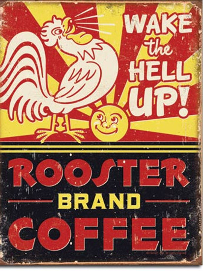 Rooster Brand Coffee Metal Sign #1793