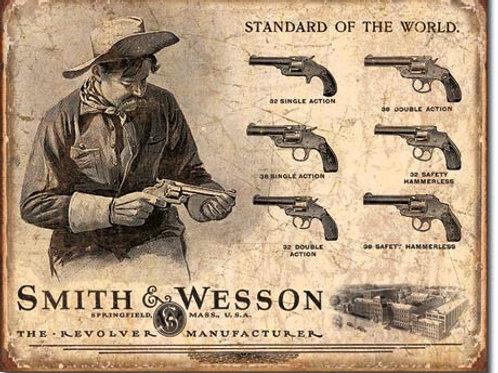 Smith & Wesson Revolver Manufacturer Metal Sign #1743
