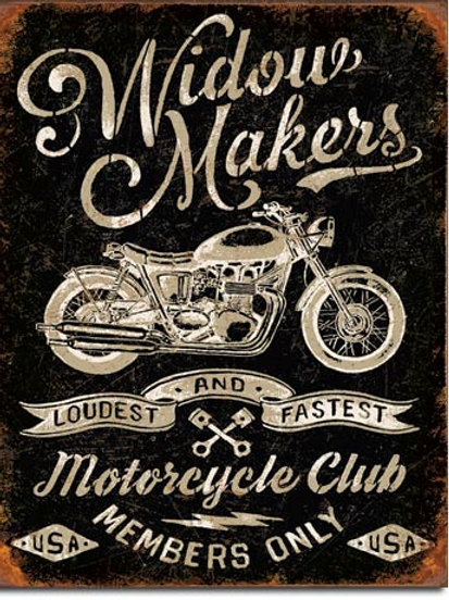 Widow Maker's Cycle Club Metal Sign #2076