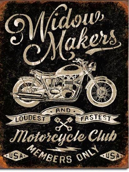 Widow Maker's Cycle Club Metal Sign #2076