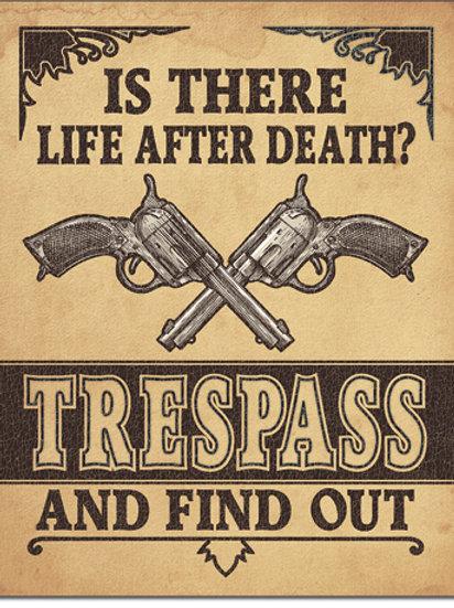 Life After Death? Metal Sign #2347
