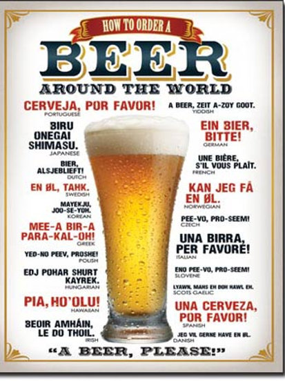 How to Order a Beer Metal Sign #1808