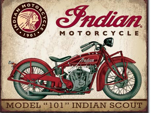 Indian Scout Metal Sign #1933