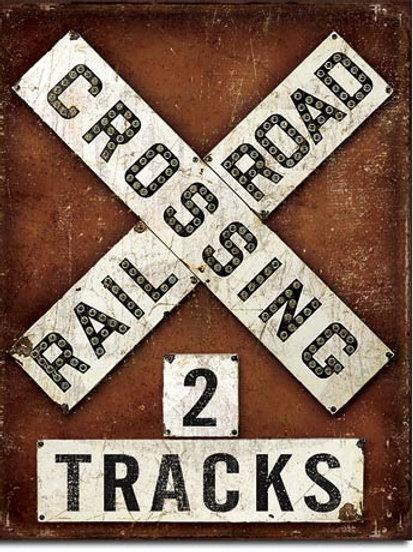 Railroad Crossing Metal Sign #2174