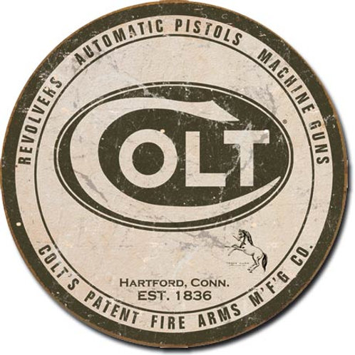 COLT Round Logo Metal sign #1609