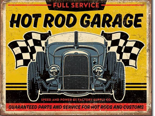 Hot Rod Garage - '32 Rod Metal Sign #2105