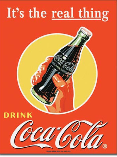COKE - Real Thing Bottle Metal Sign #1053