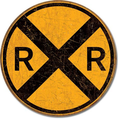 Railroad Crossing Metal Sign #2120