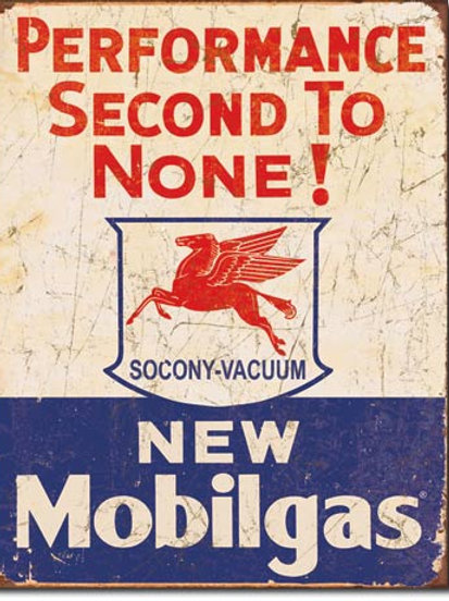 Mobil Gas - 2nd to None Metal Sign #1725