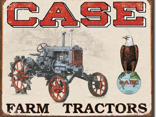 Case Tractor - CC High Metal Sign #1230