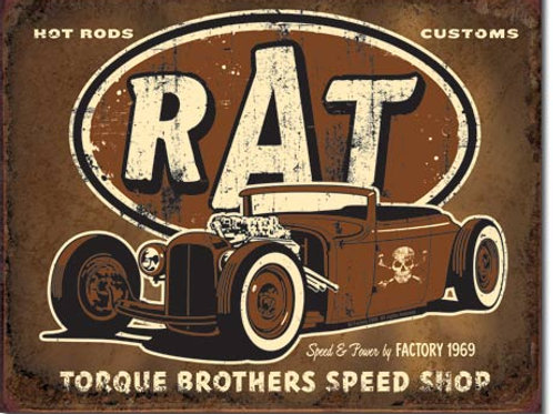 Torque Brothers Speed Shop Metal Sign #1783