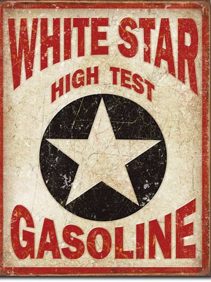 White Star Gasoline Metal Sign #1999
