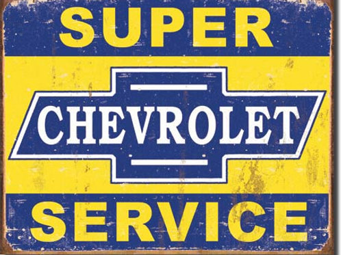 Super Chevy Service Metal Sign #1355