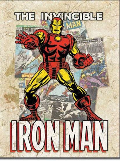 Iron Man - Cover Splash Metal Sign #2208