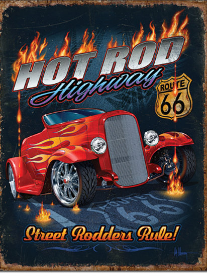 Hot Rod Highway Metal Sign #2370