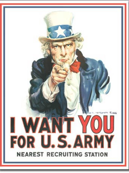 Uncle Sam I Want You Metal Sign #128