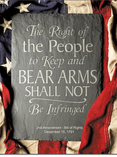 2nd Amendment Right Metal Sign #2364