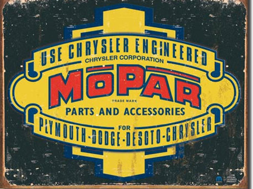 Mopar Logo '37-'47 Metal Sign #1314