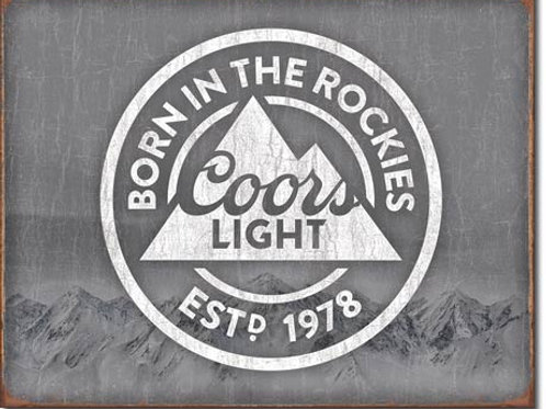 Coors Light Born in the Rockies Metal Sign #2181