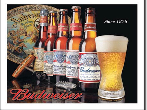 Budweiser - History of Bud Metal Sign #1155
