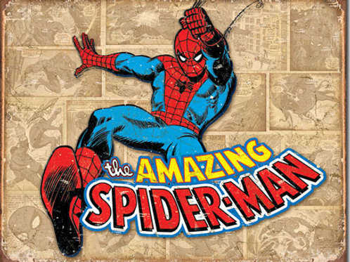 Spiderman Retro Panels Metal Sign #1737