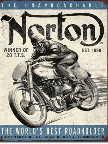 Norton Winner Metal Sign #1706
