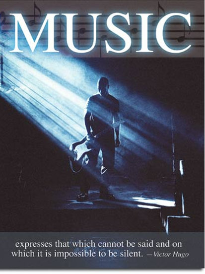 Music - Victor Hugo Metal Sign #2097