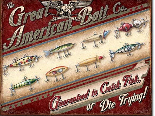 Great American Bait Co. Metal Sign #1910