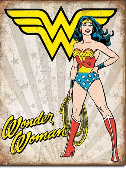 Wonder Woman Heroic Metal Sign #2085