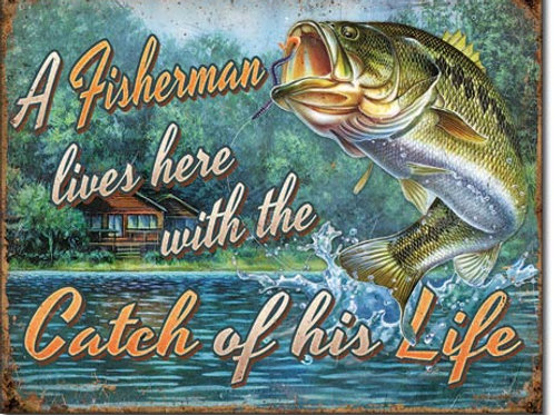 Fisherman's Catch Metal Sign #2235
