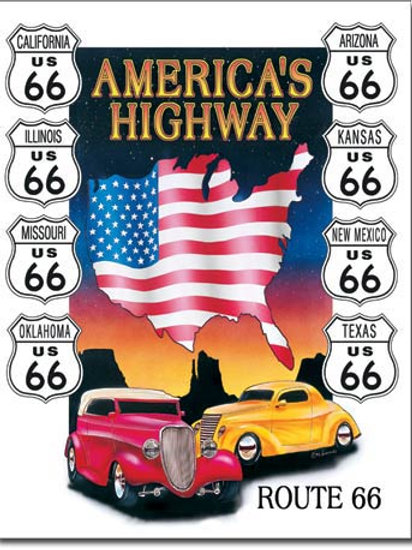 America's Highway Metal Sign #605