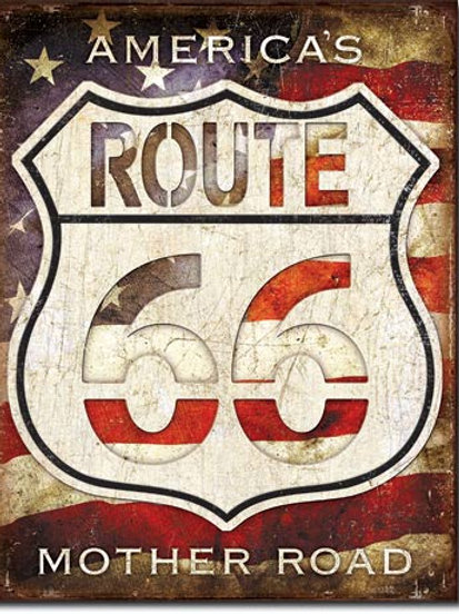 Route 66 - America's Road Metal Sign #2104
