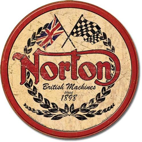 Norton - Logo Round Metal Sign #1705