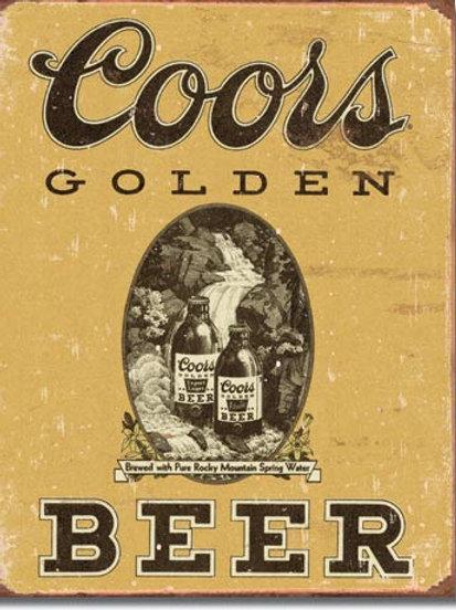 Coors Golden Metal Sign #1648