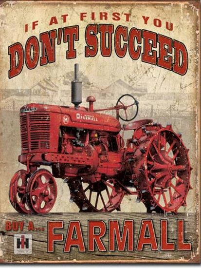 Farmall - Succeed Metal Sign #1742