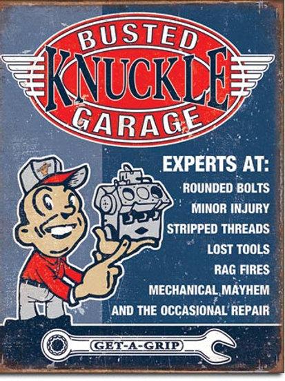 Busted Knuckle Garage Metal Sign #2144