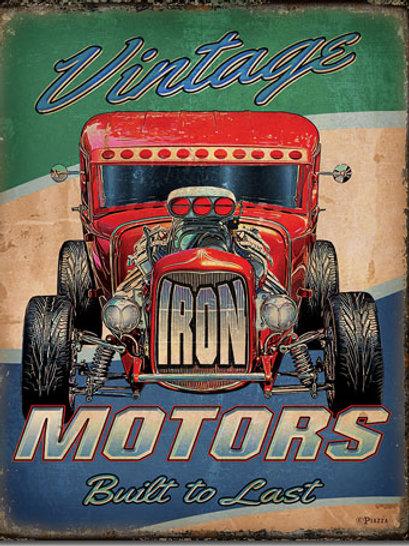 Vintage Motors Metal Sign #2382